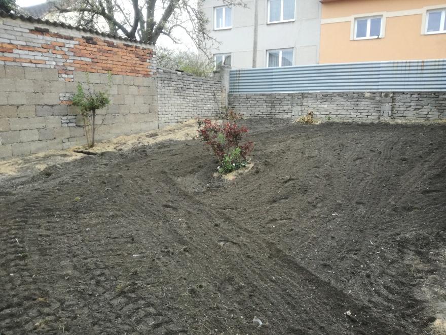 Pohled na již zapravený písek do půdy